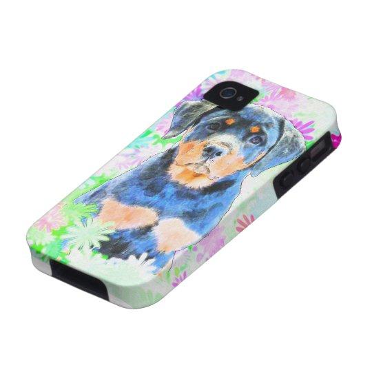 Rottweiler Welpe Vibe iPhone 4 Hüllen