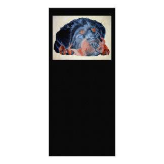 Rottweiler Welpen-Porträt Werbekarte