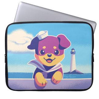 Rottweiler Welpen-Seehundeseemann Laptopschutzhülle