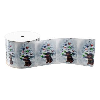 Rottweiler Welpen-Weihnachten Ripsband