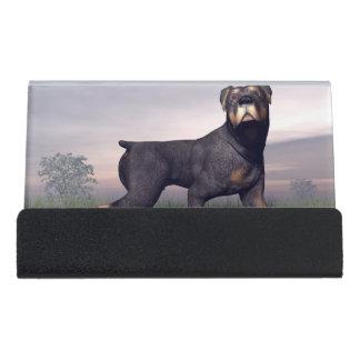Rottweiller Hund Schreibtisch-Visitenkartenhalter