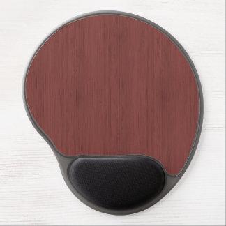 Rotwein-Bambusblick-Holz-Korn Gel Mouse Matten