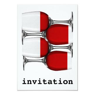 Rotwein-Einladung Karte
