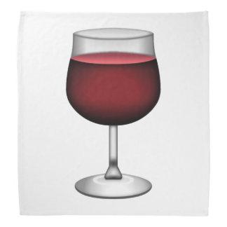 Rotwein - Emoji Kopftuch