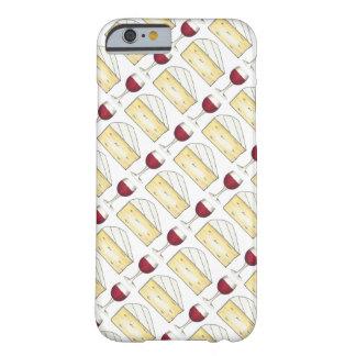 Rotwein-Glas + Briekäse-Käse-Telefon-Kasten Barely There iPhone 6 Hülle