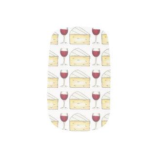 Rotwein-Glas-und Minx Nagelkunst