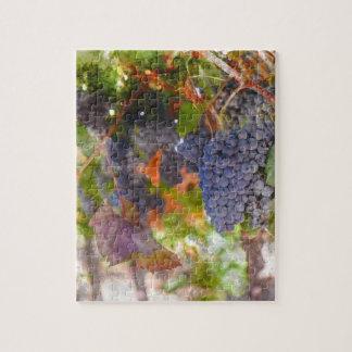 Rotwein-Trauben auf Rebe Puzzle