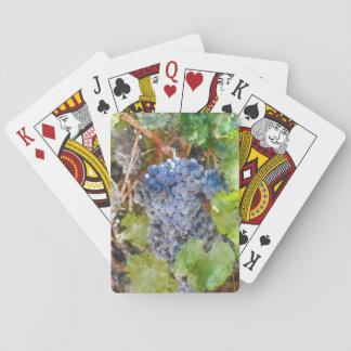 Rotwein-Trauben auf Rebe Spielkarten