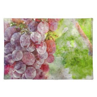 Rotwein-Trauben auf Rebe Tischset