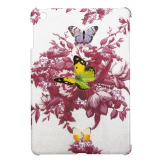 Rotwein und hartes Muschel der Schmetterlinge iPad iPad Mini Hülle