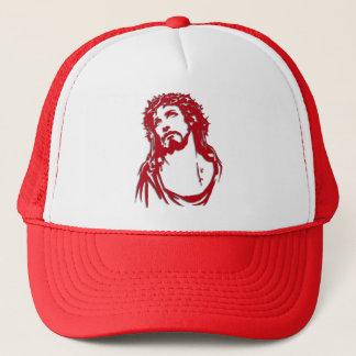 """Rotweiße Mütze """"JESUS """""""