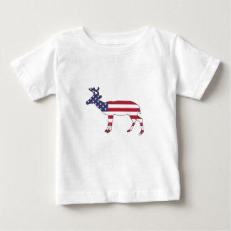 "Rotwild ""amerikanische Flagge "" Baby T-shirt"
