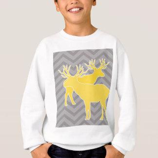 Rotwild auf dem Zickzack Zickzack - Gelb und Grau Sweatshirt