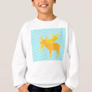 Rotwild auf dem Zickzack Zickzack - Pastellblau Sweatshirt