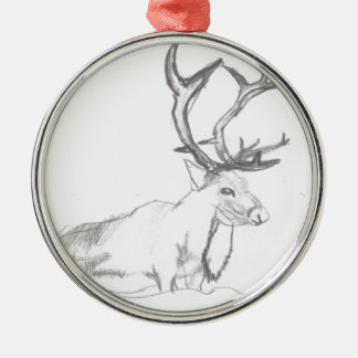 Rotwild, die Eliana zeichnen Silbernes Ornament