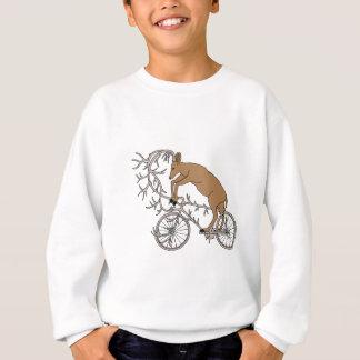 Rotwild, die sein Geweih-Fahrrad reiten Sweatshirt