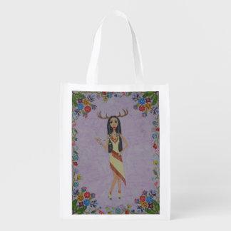 Rotwild-Frau (Märchen-Mode-Reihe #5) Wiederverwendbare Einkaufstasche
