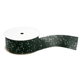 Rotwild-Geweih-Grün-Glitter Ripsband