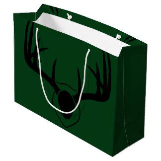 Rotwild-Geweih-Grün Große Geschenktüte