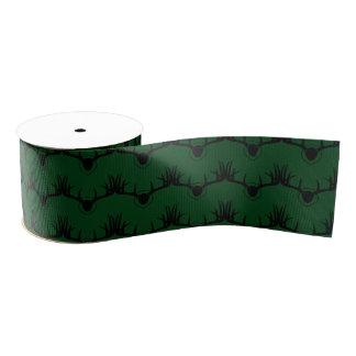 Rotwild-Geweih-Grün Ripsband