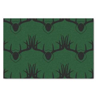 Rotwild-Geweih-Grün Seidenpapier