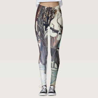 ROTWILD in den WINTER-Gamaschen Leggings