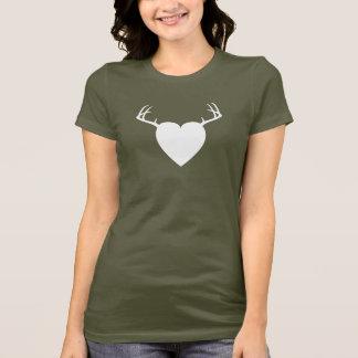 Rotwild-Jagd-Geweihherz T-Shirt