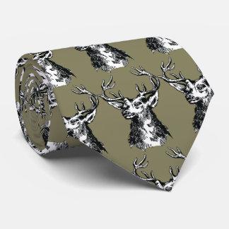 Rotwild-Kopf-Zeichnen Krawatte
