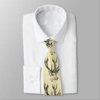 Rotwild-Köpfe Krawatte