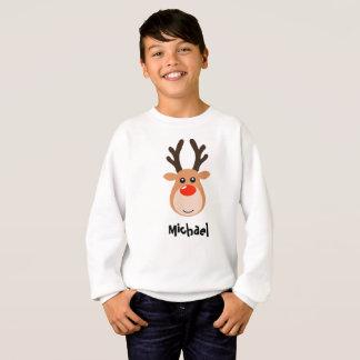 Rotwild mit dem Sweatshirt des Namensjungen