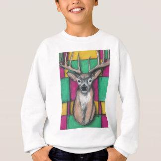 Rotwild mit geometrischem Hintergrund Sweatshirt