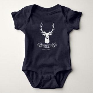 Rotwild-Nebenfluss-Ranch-Baby (Marine) Baby Strampler