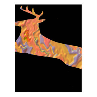 Rotwild-Show - Flug der bunten Tiere Postkarte