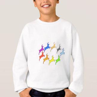 Rotwild-Show - Flug der bunten Tiere Sweatshirt