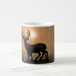 """Rotwild-Sonnenuntergang""   Sepia Kaffeetasse"