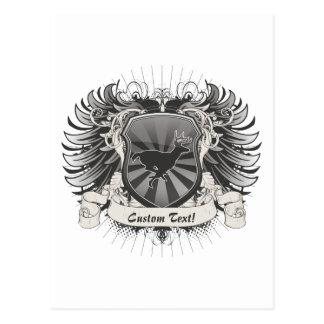 Rotwild-Wappen Postkarte