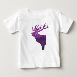 Rotwildhaupthirsch in der Flieder Baby T-shirt