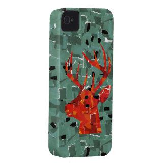 RotwildhauptSilhouettemosaik iPhone 4 Case-Mate Hüllen