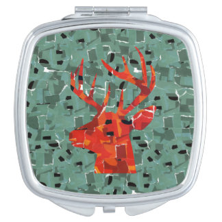 RotwildhauptSilhouettemosaik Taschenspiegel