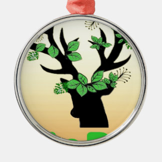 Rotwildhorn Hoffnungszitate Silbernes Ornament