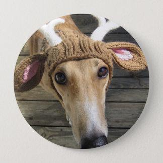 Rotwildhund - niedlicher Hund - whippet Runder Button 10,2 Cm