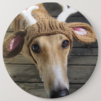 Rotwildhund - niedlicher Hund - whippet Runder Button 15,3 Cm