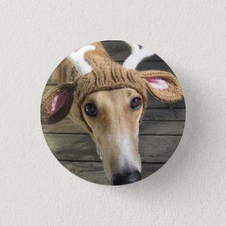 Rotwildhund - niedlicher Hund - whippet Runder Button 3,2 Cm