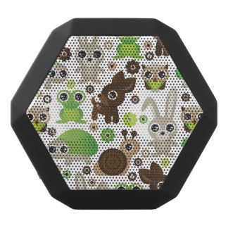 Rotwildschildkrötehäschen-Tiertapete Schwarze Bluetooth Lautsprecher