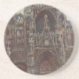 Rouen-Kathedrale, Abend, Harmonie im Braun Sandstein Untersetzer