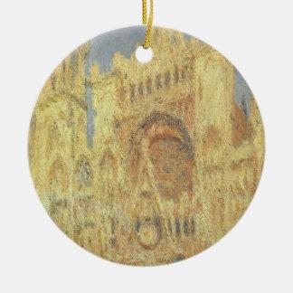 Rouen-Kathedrale, Sonnenuntergang durch Claude Keramik Ornament