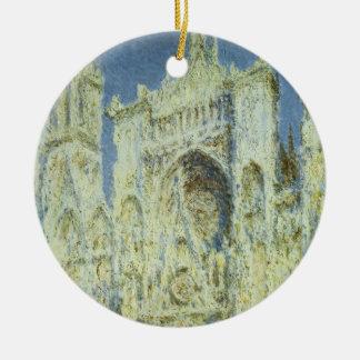 Rouen-Kathedralen-Westfassaden-Sonnenlicht, Claude Keramik Ornament