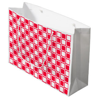 Rouge-mutige Mod-Quadrate Große Geschenktüte