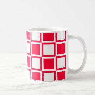 Rouge-mutige Mod-Quadrate Kaffeetasse