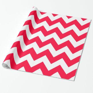 Rouge-mutiges Zickzack Geschenkpapier